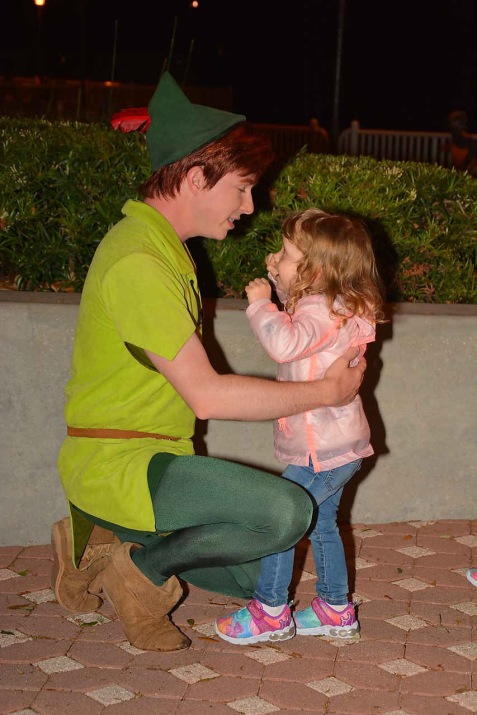 Peter Pan was a treat to meet
